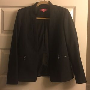 Catherine Malandrino open blazer w/ zipper pockets